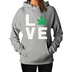 Love Weed - Cannabis Ganja Marijuana Smokers Gift for Weed Day Women Hoodie