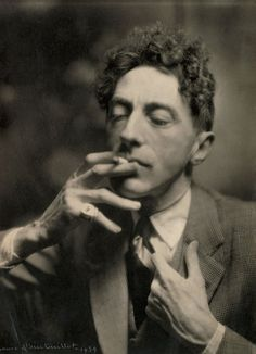 "una-lady-italiana:  "" by Laure Albin Guillot (1879-1962)  Jean Cocteau  1939  Private collection, Paris  © Laure Albin Guillot / Roger-Viollet  """