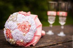 Wedding bouquet / Свадебные цветы ручной работы. Заказать Брошь-букет. Алла Изнюк. Ярмарка Мастеров. Свадебный брошь букет