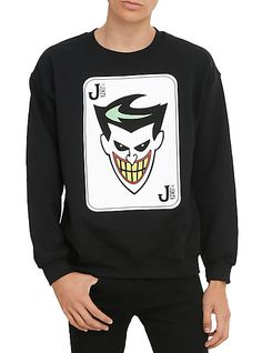 $36. 50 : Batman: The Animated Series The Joker Crew Pullover | Hot Topic