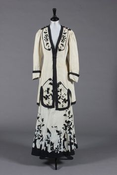 Cream and black suit, c. 1910