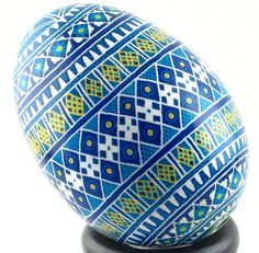 Easter eggs Eukranian style. These are so neat to make-very time consuming.
