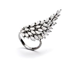 Silver+Wing+Ring++Elegant+Wing+Ring++Unique+Ring++by+ArtesSilver