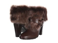 Ralph Lauren Collection Raeanne...adapt your own boots by using fur collars from vintage coats.  I have collected a dozen collars over the years, for crafting.  This bootie costs over a $1000, but you could do this with a pair you already have..