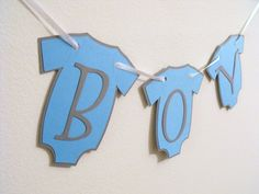 Boy banner. Perfect for baby showers and a great prop for maternity and parents to be photos!