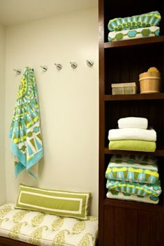 Pool House (I worked on this project ages ago - loved these towels from Tori Burch)