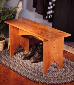 wedged tenon bench woodworking plan