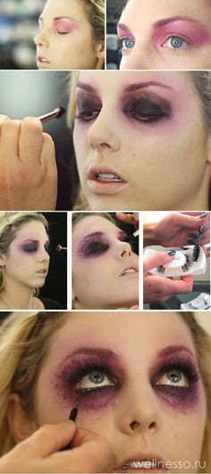 макияж ведьмы пошагово на хэллоуин