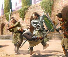 Ser Garlan Tyrell training by joshuacairos_art