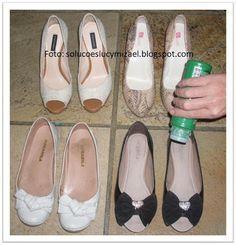 Para que nossos sapatos fiquem bonitos por muito tempo alguns cuidados são essenciais. O primeiro cuidado é com a limpeza. Todos os dias após o uso, limpe-os por dentro e por fora com pano úmido quase seco, e deixe-os na área de serviço para respirar. Acima, em destaque, uma mancha causada por maus cuidados: o sapato…
