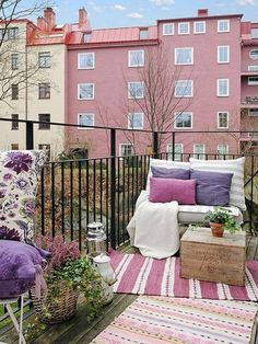 Small balcony designs in Swedish style give great inspirations for creating and decorating outdoor living spaces
