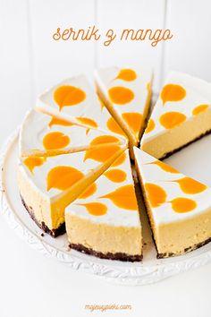 Mango cheesecake My pastries Mango Cheesecake, Vanilla Cake, Pastries, Cake Ideas, A Food, Cake Decorating, Baking, Kitchens, Tarts
