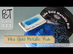 Video: How to use Inka Gold Metallic Rubs on Polymer Clay - YouTube.  Michael's is now carrying these rubs in the scrap booking area. ~ Polymer Clay Tutorials