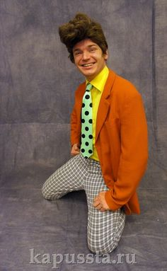 Оранжевый стиляжный пиджак