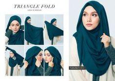 60 Ideas Makeup Simple Hijab For 2019 Tutorial Hijab Segitiga, Square Hijab Tutorial, Simple Hijab Tutorial, Pashmina Hijab Tutorial, Stylish Hijab, Casual Hijab Outfit, Modern Hijab Fashion, Muslim Fashion, Cara Hijab