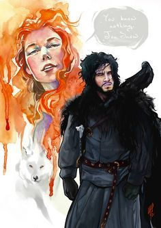 You know nothing, Jon Snow  by María Emegé  http://emege.deviantart.com/gallery/