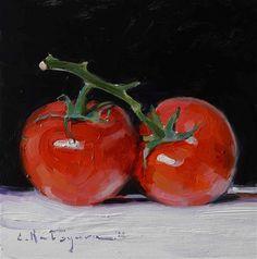 "Daily Paintworks - ""Two Tomatoes"" - Original Fine Art for Sale - © Elena Katsyura Master Studies, Drawing Tablet, Still Life Art, Fruit Art, Kitchen Art, New Artists, Fine Art Gallery, Art For Sale, Tomatoes"