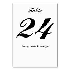 Shop Elegant, Minimalist, Simple, Plain Black & White Table Number created by AponxDesigns. Plain Black, Black And White, Minimalist Wedding, Table Numbers, Elegant, Simple, Cards, Wedding Ideas, Nice