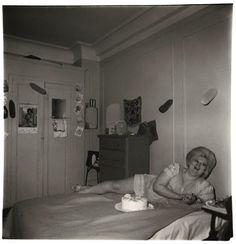 Transvestite and her birthday cake, N.Y.C., 1969 {Diane Arbus}