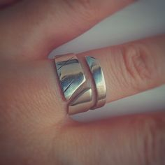 Leaf Ring, Open Ring, Jewelry Ideas, Spiral, Online Shopping, Feather, Silver Rings, Polish, Etsy