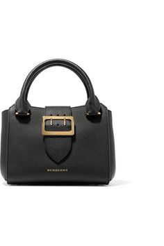 Burberry - Textured-leather Tote - Black - one size