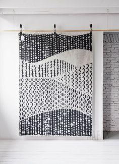 Scandinavian wool blanket field of dots available at Rafa-kids