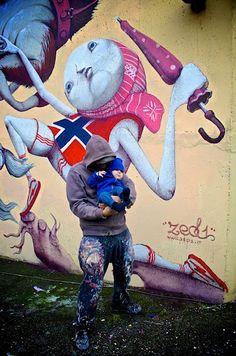 Streetart: ZED1 – New Murals In Oslo, Norway (11 Pictures)