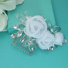 Peigne mariage cristal strass peigne, peigne mariée fleur, mariage cristal peigne, peigne, accessoire de mariage, casque nuptiale