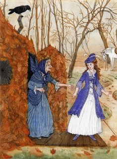 Debra McFarlane Illustrator: 'Princess Minon-Minette'  From 'The Pink Fairy Book' by Andrew Lang.