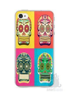 Capa Iphone 4/S Caveiras Coloridas - SmartCases - Acessórios para celulares e tablets :)