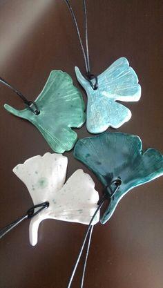 Ginkgo leaf pendants /Özlem Menekay 2016