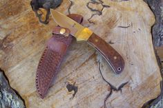 Drop Point Absaroka Skinning Knife, Hunting Knife, Che Chen Handles, Saddle Leather Basket Weave Sheath, Hunting Camp Gear, Exotic Wood