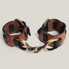 The Hypercuffs are made of genuine leather and brass. Marquise, Brass, Bracelets, Handmade, Leather, Accessories, Cuffs, Cufflinks, Shop