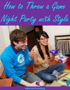 Board games aren't just for kids! Learn how to throw a game night #party with style. [Rent.com Blog]