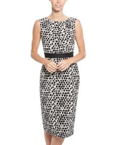Peter Som Printed Dot Silk Dress