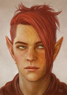 Osiris Lavellan An attempt at a realistic portrait.. Yes, he has freckles. by slugette, aka Yerin Yoo