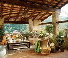 Masia rural - Rustic - Porch - Barcelona - by BCA Interiors SL Rustic Cottage, Rustic Farmhouse Decor, Rustic Decor, Rustic Houses, Rustic Backdrop, Rustic Chair, Bedroom Rustic, Rustic Crafts, Rustic Nursery