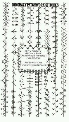 crazy patchwork Stitches
