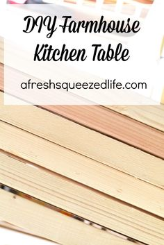 DIY FARMHOUSE KITCHEN TABLE I have begun my first adventure in making a significant wood project: my kitchen table! So far progress is good and I am loving it!