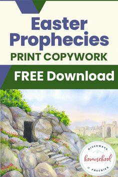 There are more than 300 prophecies in Scripture that point to the suffering, death, resurrection, and ascension of Jesus Christ. Help your children memorize and reflect on 13 of these Scripture passages with this FREE Easter Prophecies Copywork unit.#Easter #copywork #prophecies #hsgiveaways Ascension Of Jesus, Jesus Coloring Pages, Educational Activities For Kids, Learning Activities, Bible Resources, Bible Study Journal, Bible Verse Art, Worksheets For Kids, Homeschool