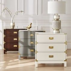 Shop for Kedric 3-Drawer Gold Accent End Table Nightstand by iNSPIRE Q Bold. Get free shipping at Overstock.com - Your Online Furniture Outlet Store! Get 5% in rewards with Club O! - 23109784