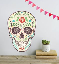This beautfully colourful skull design is inspired by the famous Mexican holiday Dia Del Muerta.