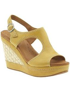 I'm obsessed with the Mustard wedge right now
