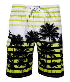 43d96d7f5e APTRO Men's Quick Dry Board Shorts Printed Palm Beach Swim Wear: Amazon.co.