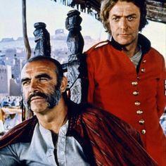 "Michael Caine y Sean Connery en ""El Hombre Que Pudo Reinar"" (The Man Who Would Be King), 1975 Scottish Actors, British Actors, Sean Connery James Bond, Military Shows, Bond Girls, Cinema Film, Great Films, John Wayne, Famous Men"