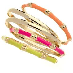Neon Enamel Multipack Bangles (230 ARS) ❤ liked on Polyvore featuring jewelry, bracelets, accessories, bangles, pulseiras, jewellery by diva, women's jewellery, hinged bangle, enamel jewelry and enamel bangle bracelet