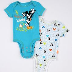 Disney Cuddly Bodysuit™ with Grow-An-Inch-Snaps™ MICKEY MOUSE 2-Pack