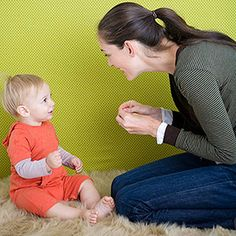 Teach baby sign language to reinforce the associate between the sound and object. I can't wait for my Grandson to get here,...like his mother before him, he WILL Lear Sign Language as he acquires Language! Especially important because his other grandmother is Deaf!