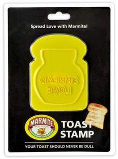 Marmite Toast stamps for those Marmite sandwiches Marmite, Spread Love, Vintage Advertisements, Cookie Cutters, Hate, Toast, My Love, Sweet, Sandwiches