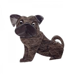 Decidedly fun, often outrageous, somewhat quirky but delightfully companionable; each character in the limited edition Erstwilder collection has its own personality and provides the perfect antidote t. Dog Jewelry, Animal Jewelry, Resin Jewelry, Jewelry Design, Jewellery, Currency Symbol, Preston, Brown And Grey, Pugs